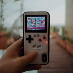 iphone x, gameboy